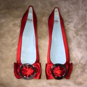 New Frances Valentine red loafers size 9.5